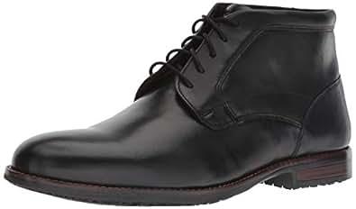 Rockport Men's Dustyn Chukka Boot, black, 13 W US