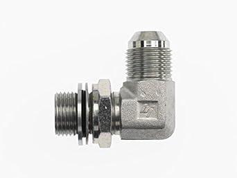 Steel Brennan 126 Units 3//8 in Male JIC 37/° Flare x 3//8 in Male O-Ring Boss Straight Adapter