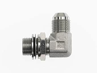 Brennan Straight Adapter 1-1//4 in Male JIC 37/° Flare x 1-1//2 in Male O-Ring Boss 8 Units Steel