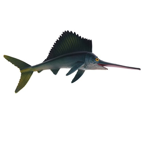 (MonkeyJack Realistic Science Plastic Animal Sailfish Model Figure Swordfish Figurine Children Kids Educational Toy Decoration Collectibles Kids Story Telling Props)
