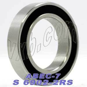 69072RS aka 619072RS Thin Section Ball Bearing 35mmX55mmX10mm 6907 2RS 61907 2RS