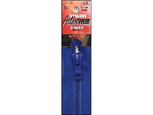 "YKK Vislon 2-Way Separating Zipper, 28"", Rocket Blue"
