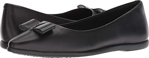 Cole Haan Women's Zerogrand Bow Skimmer Slipper, Leather/Black, 8 C US (Cole Haan Moccasins Women)