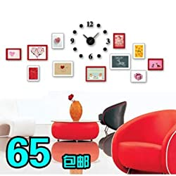 Stylish, Silent Wall Clock Home,Kitchen,Office,Living Room,School ClockLiving Room Photo Frame Wall Photo Wall Like Frame Wall Photo Wall Combination Creative Wall Clock Gift, Vows Package