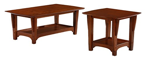 Night & Day Furniture TE-EVE-CH Evening End Table, Cherry Finish ()