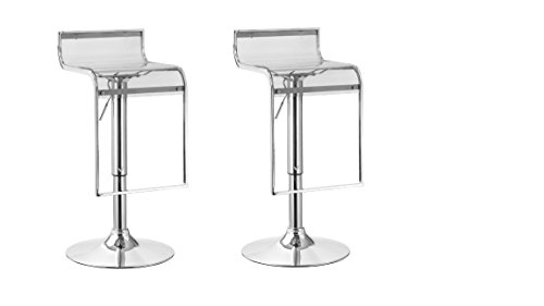 2 x acrylic hydraulic lift adjustable counter bar stool dining chair clear pack of 2