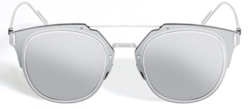 34b235f8504 Christian Dior Composit 1.0 Silver Frame Mirrored Lenses Round 62 mm  Sunglasses - Buy Online in KSA. Apparel products in Saudi Arabia.