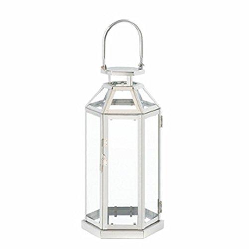 Steel Symmetry Candle Lantern by Unique's Shop