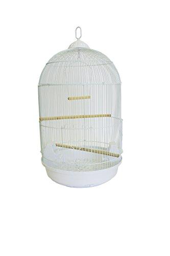 YML A1584 Bar Spacing Round Bird Cage, White, Medium by YML