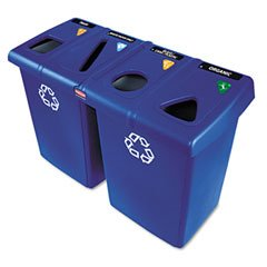 RUBBERMAID COMMERCIAL PRODUCTS GIDDS2-881101 Glutton 6-Container Recycling Station, (Rubbermaid Glutton Recycling Station)