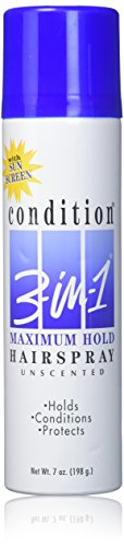 Condition 3 In 1 Sunscreen - Condition 3-N-1 Aerosol Spray 7 Ounce Max Hold Unscented With Sunscreen (207ml)