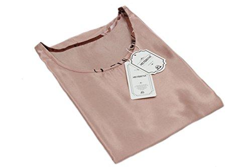 MEISHINE® Mujer Verano Suelto Vestido Impresión de la Flor Mujer Vestido de Dormir Ropa de Dormir Camisón Pajamas Light Tan