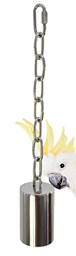 (Bonka Bird Toys 1644 Large Stainless Steel Bell Bird Toy Parrot cage Toys Cages Amazon Conure)