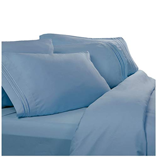 1800 Thread Count Egyptian Bed Sheets, Deep Pocket. Reg. $129.95. Sale $39.95. Softest High Thread Count Sheets (Twin XL, Blue Heaven)
