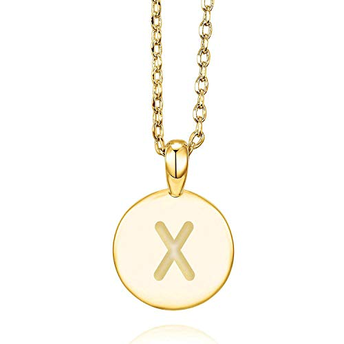 PAVOI 14K Yellow Gold Plated Letter Necklace for Women | Gold Initial Necklace for Girls | Letter X