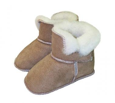 quality design 4d38b 968fc Lammfell Baby Schuhe ohne fester Sohle, Größe 18/19: Amazon ...