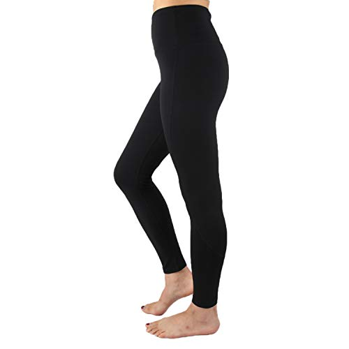 LETTON High Waist Yoga Pants Ultra Soft with 87% Polyester 13% Spandex for Women Squat Proof Workout Leggings Tummy Control Trouser - Black, Small