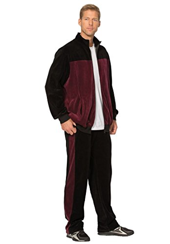 Kingsize Mens Colorblock Velour Jogset
