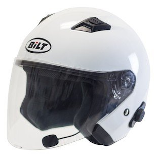 Custom Bilt Techno Metropolis Bluetooth Helmet - XL - White