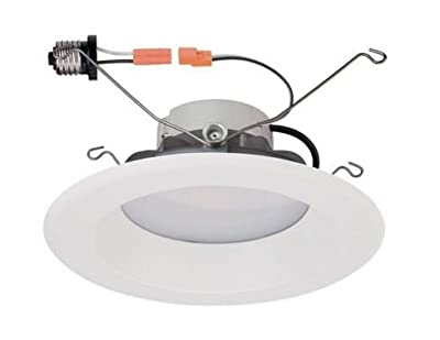 6 in. White Recessed LED High Ceiling Trim