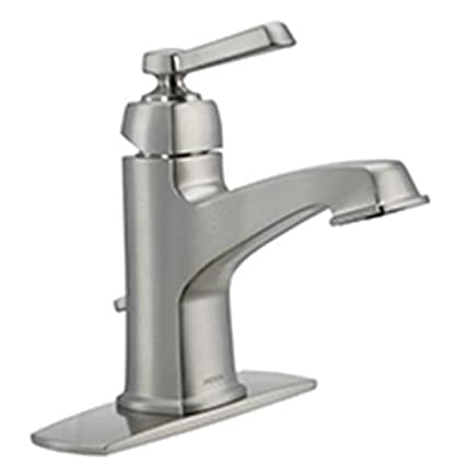 Moen 84805SRN Single Handle Single Hole Bathroom Faucet from the ...