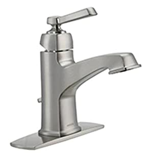 Moen 84805srn single handle single hole bathroom faucet from the boardwalk collection spot Amazon bathroom faucets moen