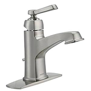 Moen 84805srn Single Handle Single Hole Bathroom Faucet From The Boardwalk Collection Spot