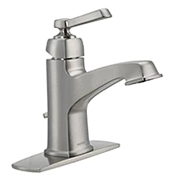 Moen 84805SRN Single Handle Single Hole Bathroom Faucet From The Boardwalk  Collection, Spot Resist Brushed Part 18