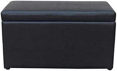 Better Homes and Gardens 30 Inch Hinged Storage Ottoman Black