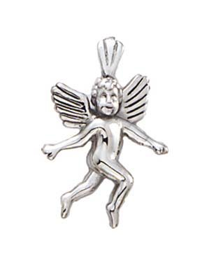 Pendentif ange blanc 14 carats-JewelryWeb