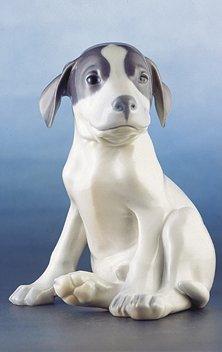 Royal Copenhagen Figurine, Pointer Puppy Sitting (Animal Copenhagen Royal)