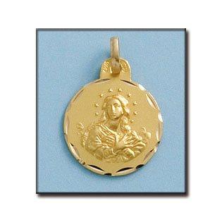Médailles D'or Purisima 18mm