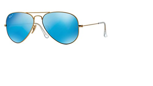 Ray Ban RB3025 112/4L 58M Matte Gold/ Polarized Blue Mirror - Aviator Ray Mirror Polarized Ban