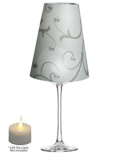 Royal Designs Flower Silhouette, Vellum Wine Glass Shade ...