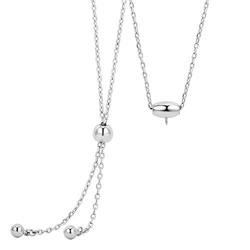 Sliders White Necklace - Wholesale 4PCS White Gold Plated Brass 1.5mm Slider Chain Necklace Adjustable Finished Chain Bulk for Jewelry Making 30 Inch