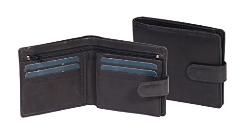 Quality Holder BOXED Slick Wallet ID Slim Mens Soft Credit Bifold Top Card Leather BLACK qEFRZn6P