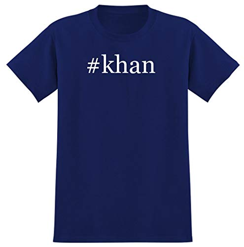 Harding Industries #Khan - Hashtag Men's Graphic T-Shirt, Blue, Medium