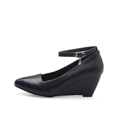 Adeesu Negro De Mujer Tacón Sdc06320 Para Uretano Zapatos wTUwnqfCPA