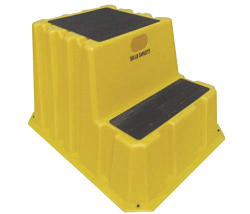 DPI Polyethylene Step Stand, 20-1/2'' Overall Height, 500 lb. Load Capacity, Number of Steps: 2 NST-2-14