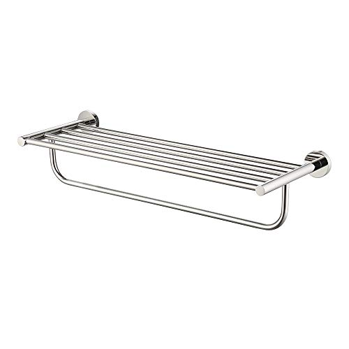 KES Towel Rack, with Towel Bar 23 Inch Polished Bathroom Shelf Wall Mount, SUS 304 Stainless Steel, A2110S60 (Towel Rack 23)