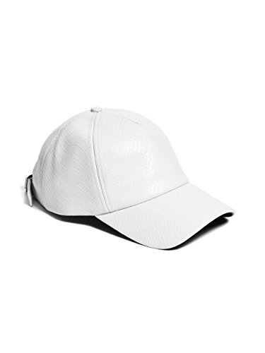 GUESS Women's Embossed Faux-Leather Baseball Cap