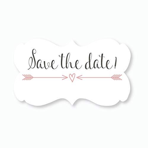 36 - Save The Date Wedding Envelope Seals (#366) (Blush)