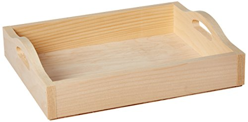 Walnut Hollow Unfinished Wood Serving Tray, DIY Home Décor Accent Piece, 10-inch...