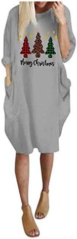 [해외]MOHOLL?Fall Pullover Long Sleeve Dress for Women Funny Christmas Print Plus Size Casual T Shirt Dresses Gift / MOHOLL?Fall Pullover Long Sleeve Dress for Women Funny Christmas Print Plus Size Casual T Shirt Dresses Gift