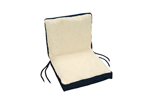 Eggcrate Wheelchair Cushion - Removable Washable Cover - Sheep Skin - Fits Any Chair or Mobility Device - By Hermell Products ()