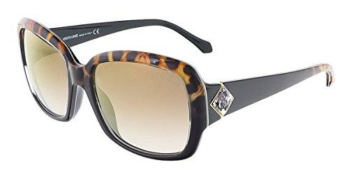 Roberto Cavalli RC881S/S 05G MAIA Black/Leopard Square - Roberto Cavalli Sunglass