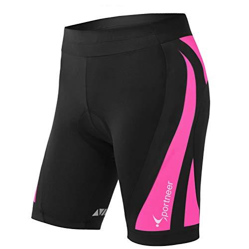 Sportneer Womens Padded Cycling Shorts 4D Padding Bike Bicycle Shorts for Women