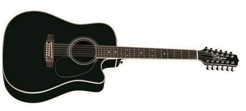 - Takamine EF381SC 12-String Dreadnought Acoustic-Electric Guitar with Hard Case