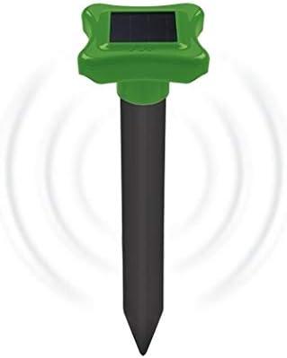 Maulwurfvertreiber f/ür den Garten W/ühltiervertreiber W/ühlmausschreck Deutscher Hersteller Gardigo Maulwurfabwehr Solar ABS
