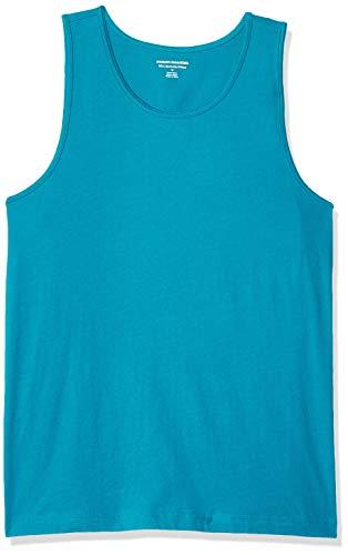 - Amazon Essentials Men's Slim-Fit Solid Tank Top, Teal, Medium
